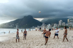 Le football à Rio Photos libres de droits