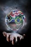 Le football 2010 de planète Photo stock