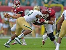 Le football 2012 de NCAA - temple d'USF @ Photo stock