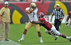 Le football 2012 de NCAA - temple d'USF @ Images libres de droits