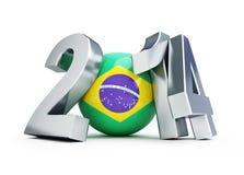 Le football 2014 du Brésil Images libres de droits