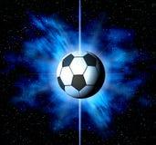 Le football. Abrégé sur l'espace Image stock