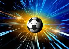 Le football. Abrégé sur l'espace Photographie stock
