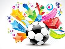 Le football abstrait avec l'étoile colorée Images libres de droits