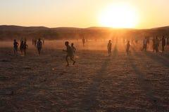 Le football africain Images libres de droits