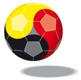 Le football aiment Yin et Yang Image libre de droits