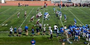 Le football américain d'université Image stock