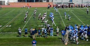 Le football américain d'université Photo libre de droits