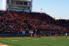 Le football américain de lycée Photo libre de droits