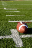 le football américain de zone Photographie stock