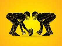 Le football américain préparent pour lutter Image libre de droits