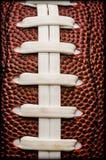 Le football américain lace le plan rapproché Image stock