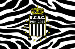 Le football belge royal Les Zebres de club sportif de Charleroi Photo libre de droits