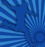 Le football bleu Image stock