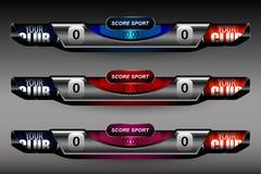 Le football boutonne le tableau indicateur Images stock