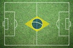 Le football - Brésil Images libres de droits