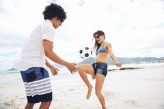 Le football Brésil de plage Images libres de droits