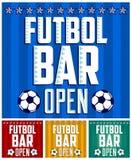 Le football - calibre de design de carte de menu de barre de sports Photo libre de droits