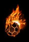 Le football chaud sur l'incendie Image libre de droits