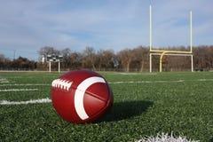 Le football collégial sur la zone Photographie stock libre de droits