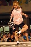 Le football Contest-3 de type de rue de Red Bull Images libres de droits