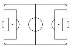 Le football, cour du football Fond de sport Style de schéma illustration de vecteur