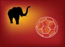 Le football d'éléphant de l'Afrique illustration stock