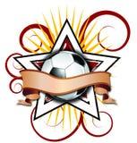 Le football d'étoile de Swirly Images libres de droits