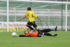 le football d'action Photo libre de droits