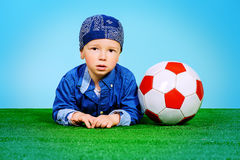 Le football d'AMOUR Photos libres de droits