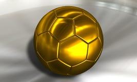 Le football d'or de bille de football Photographie stock