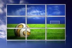 le football d'illustration de moniteurs illustration stock