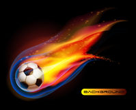 le football d'incendie de bille de football   Photographie stock libre de droits