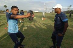 Le football d'international de l'Indonésie de camp d'entraînement Images libres de droits