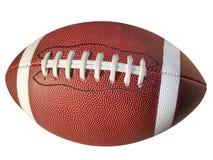 Le football d'isolement avec le chemin de clip Images stock
