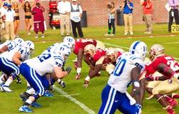 Le football d'université Image stock