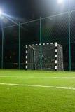 Le football dans la nuit Image libre de droits