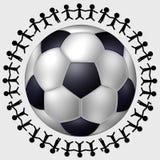 Le football dans le monde entier Image stock