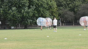 Le football de bulle Images stock