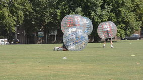Le football de bulle Photo stock
