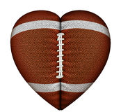 Le football de coeur Image stock