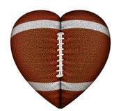 Le football de coeur image stock