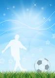 le football de conception Photo stock