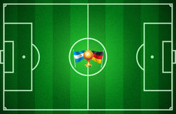 Le football de coupe du monde Photos libres de droits