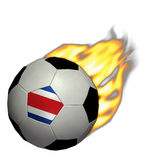 Le football de coupe du monde/football - Costa Rica sur l'incendie Photographie stock libre de droits