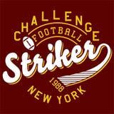 Le football de défi de conception Photos libres de droits