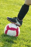 Le football de filles Image stock