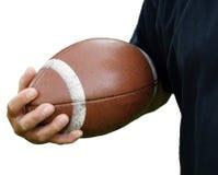 Le football de fixation d'homme Photographie stock libre de droits