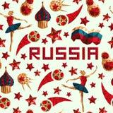 Le football 2018 de fond de tasse de championnat du monde du football d'illustration Photos libres de droits