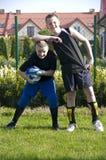 le football de garçons Photographie stock libre de droits